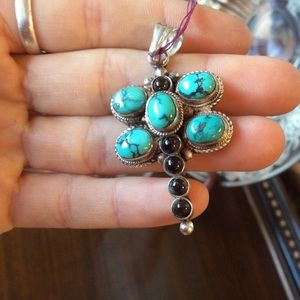Stone Turquoise Silver Dragonfly Charm